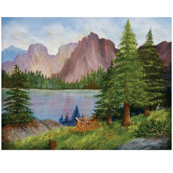 "Mountain Lake 16"" x 20"""