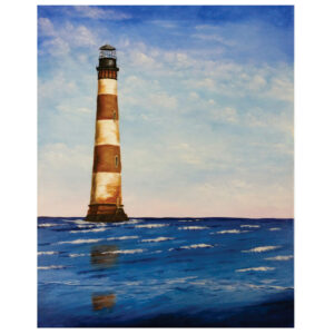 "Morris Island Lighthouse 16"" x 20"""